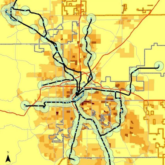 Metro Denver Map.Gis Analysis Of Population And Employment Centers In Metro Denver