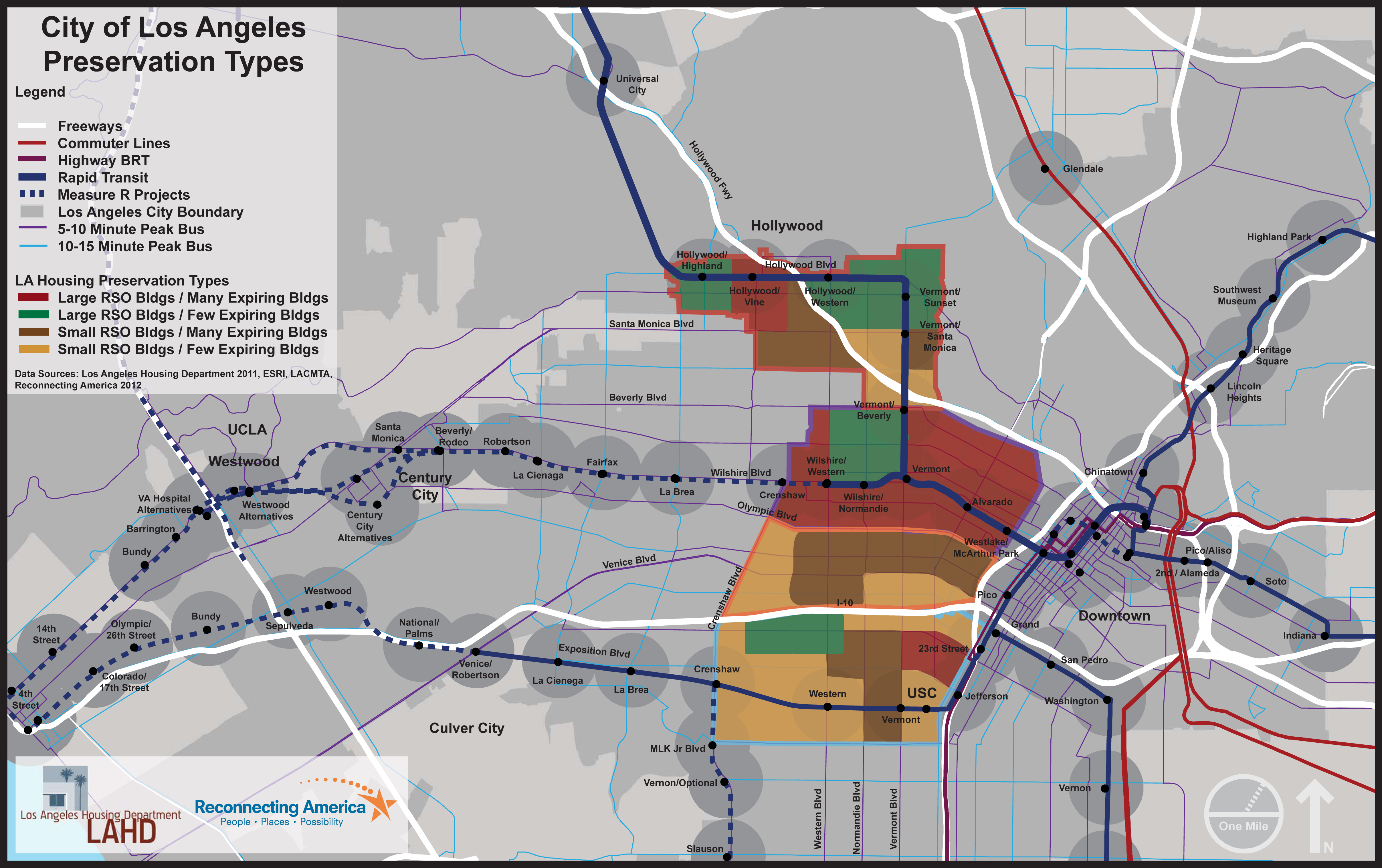 Preservation In TransitOriented Districts Maps Reconnecting America - United states of america map los angeles